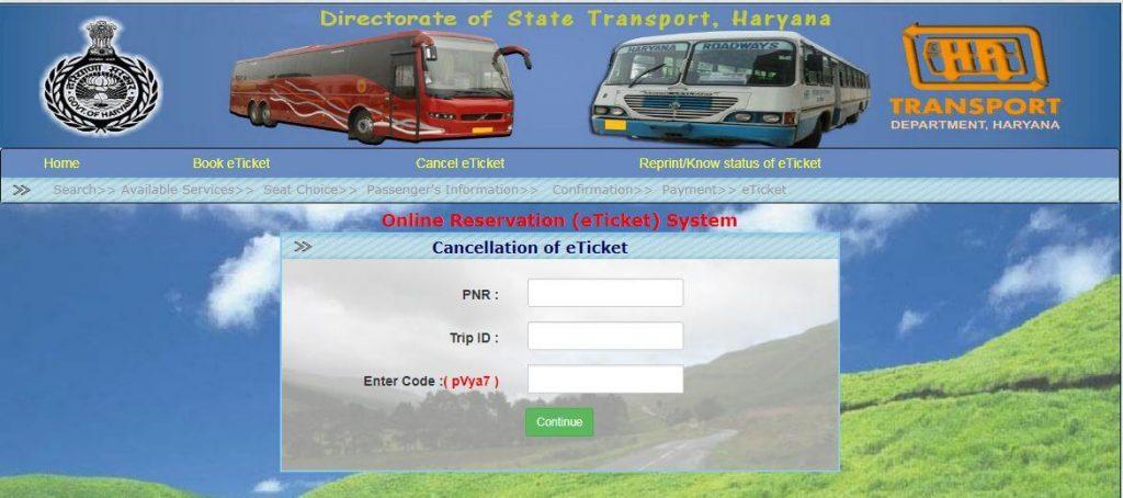 Haryana Roadways ticket booking