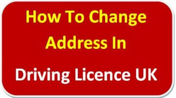 How To Change Address In Driving Licence UK